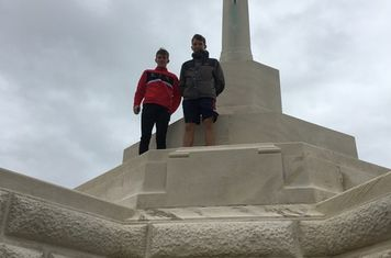 Charlie and Rory at Tyne Cot Memorial