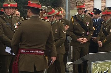 NZ soldiers commemorating the Battle of Broodseinde 4th Oct 2017