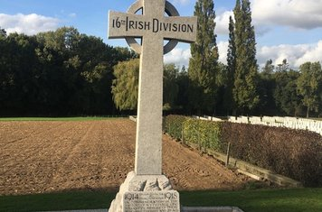 Celtic cross commemorating the Irish 16th division