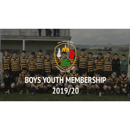 2019/20 Boys Youth Rugby Membership (single player)