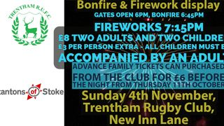 Trentham RUFC Bonfire night