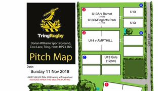 Mini and Junior Pitch Allocations - Sunday 11th November