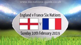 England v France - Sunday 10th February being shown at TringRugby