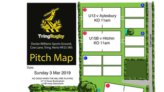 TringRugby Pitch Plan - Sunday 3rd March