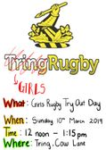Girls Rugby - Try for Free this Sunday at Midday