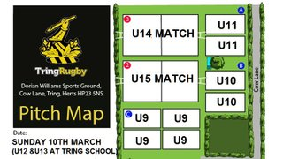 Sunday 10th March Pitch Map