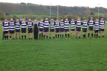 Westbury 1st XV have a minute's silence before their game against Sutton Benger
