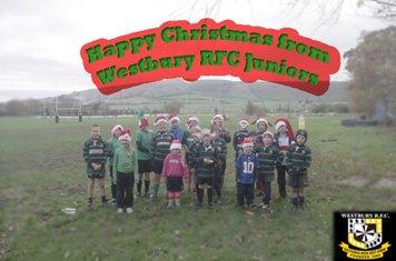 Happy Christmas from Westbury RFC Juniors