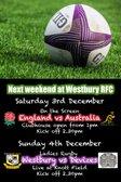 Next weekend at Westbury RFC