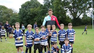 Quins' Lock Charlie Matthews at Haslemere Tri-Counties Festival 09.10.16