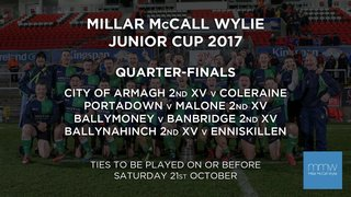Junior Cup....Armagh 2s v Coleraine