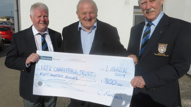Coleraine Rugby supports IRFU Charitable Trust