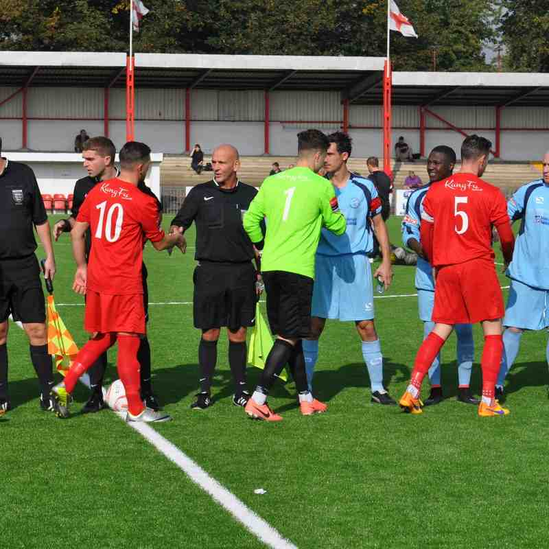 Carshalton Athletic v Leighton Town - FA Tophy - 3 October 2015