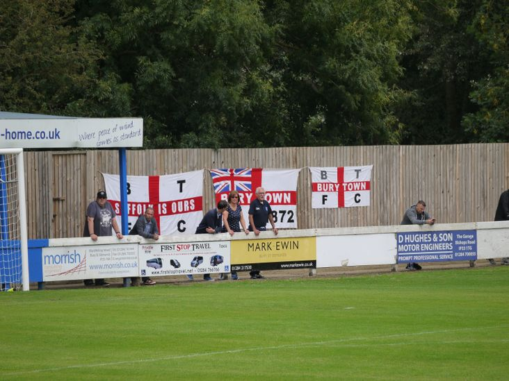 Expectant home supporters at Ram Meadow