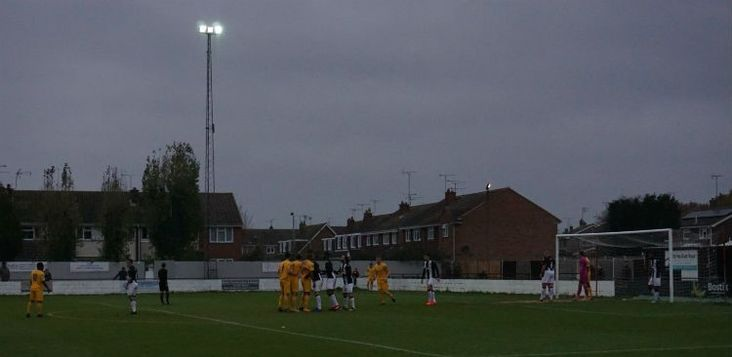 Darkness falls across the land, a Heybridge goal is close at hand