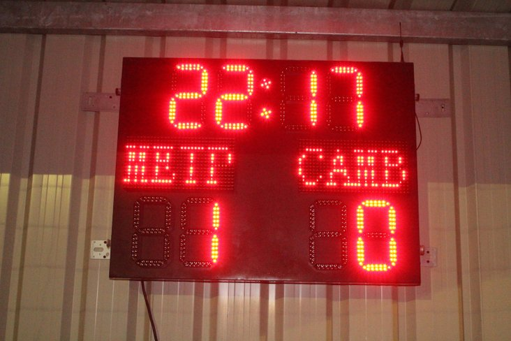 The final score- after extra time