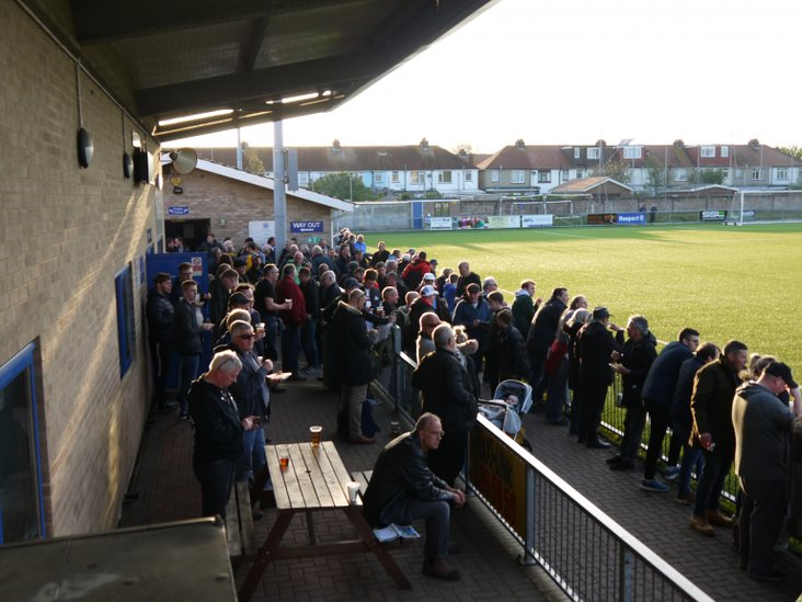 Horsham and Haywards Heath fans before the match