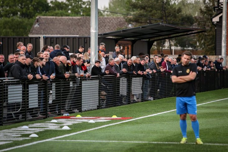 Supporters at Bracknell Town v Westfield- Neil Graham images