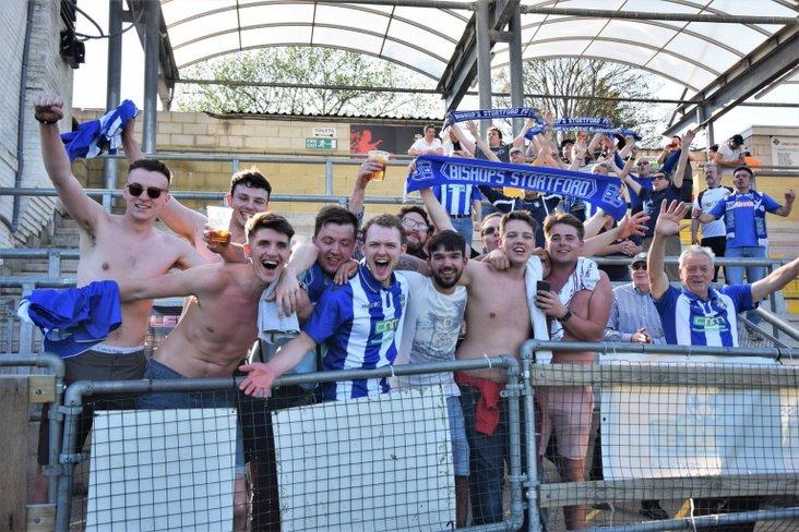 Bishop's Stortford fans at Lewes- image from Nathan Cracknell @NGCSportUK