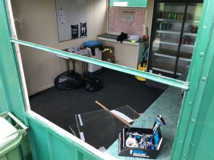 Vandalism and theft at East Thurrock United