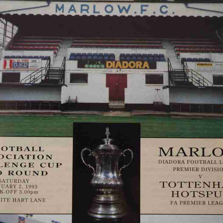 Programmes and moving pictures: Marlow v Spurs, FA Cup 1993