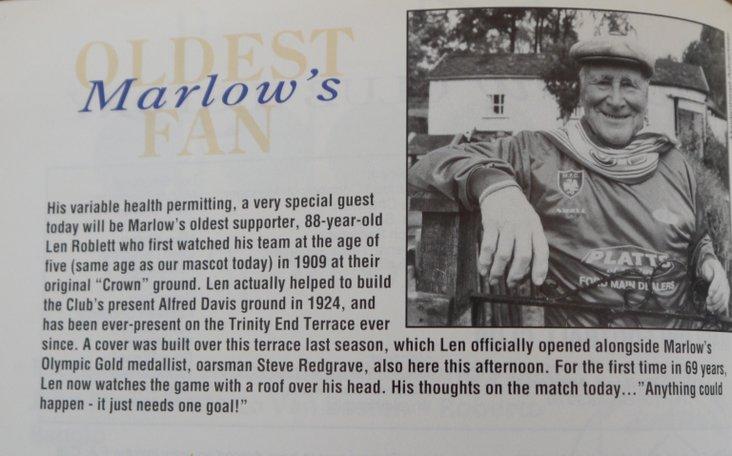 Marlow's oldest fan
