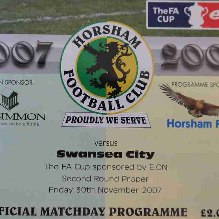 Programmes and moving pictures: Horsham v Swansea City, FA Cup, 2007