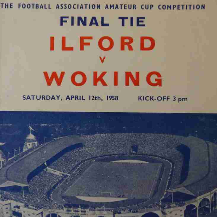 Programmes and moving pictures: Woking v Ilford, 1958