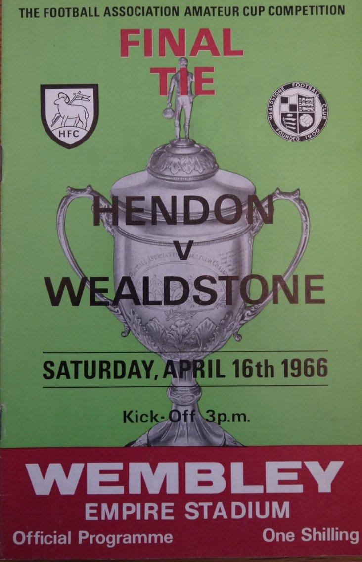 Hendon v Wealdstone, FA Amateur Cup Final 1966