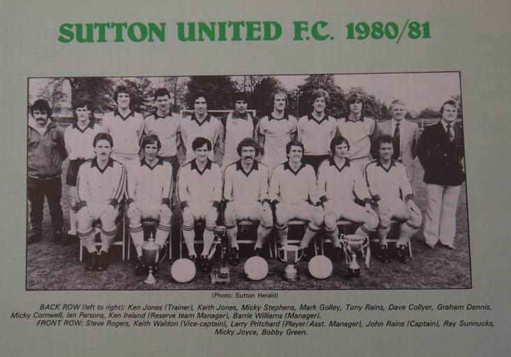 Sutton United squad, 1980-81