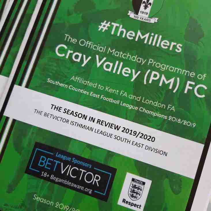Millers produce programme reviewing the season that wasn't!