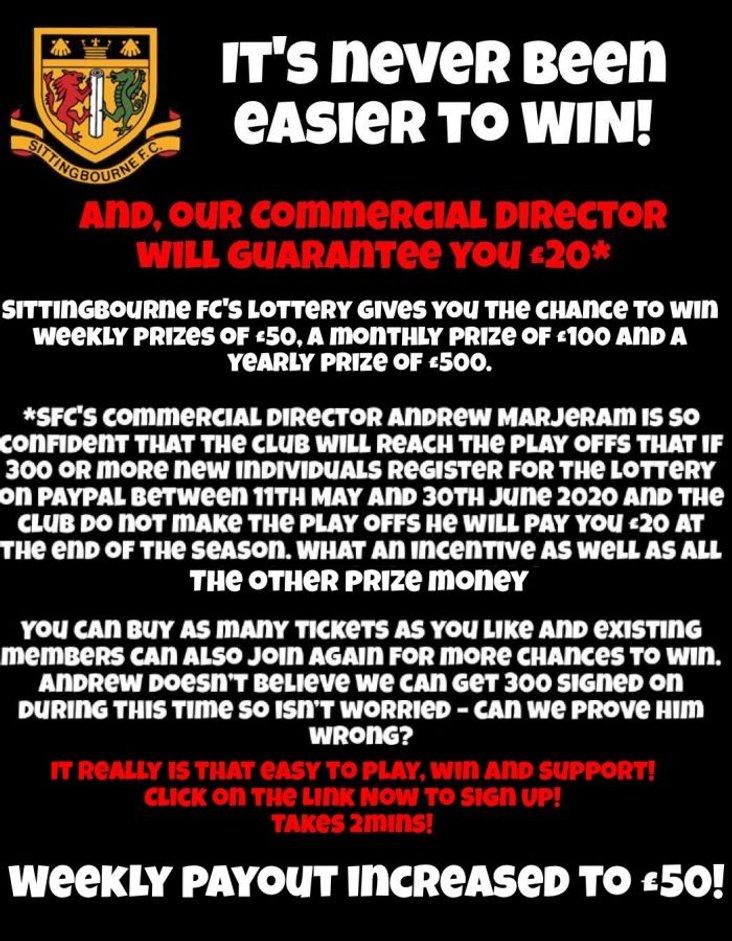 Sittingbourne lottery