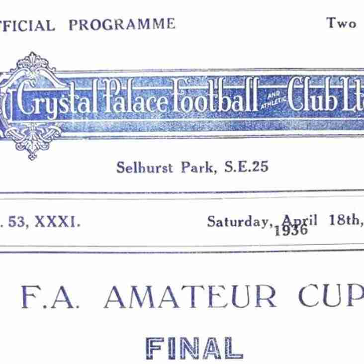Football Programmes of Yesteryear No. 8: FA Amateur Cup Final 1936, Casuals v Ilford