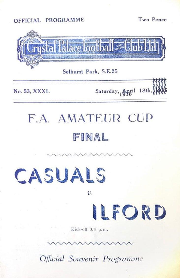 Casuals v Ilford, FA Amateur Cup Final 1936