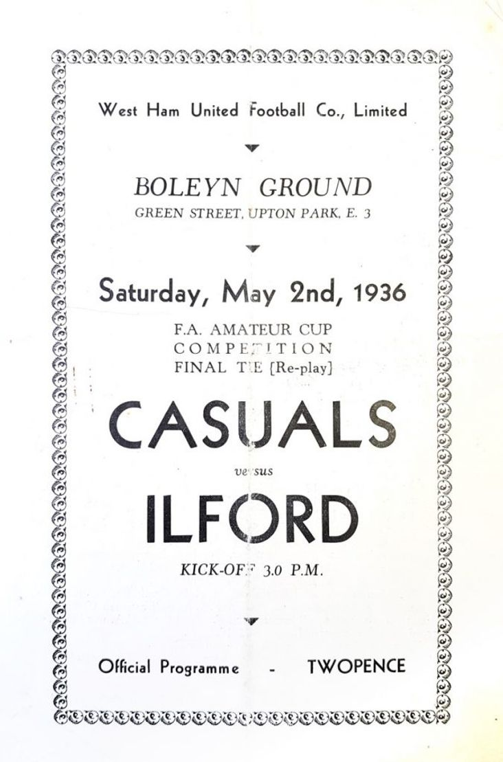 Casuals v Ilford 1936- replay