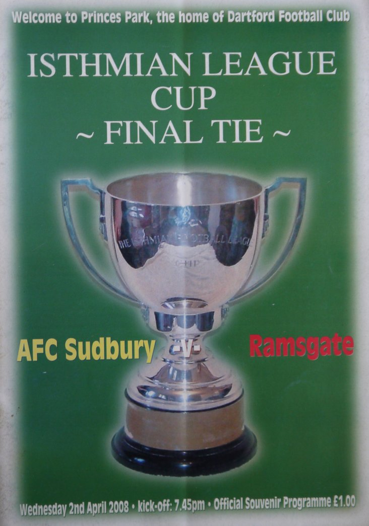 AFC Sudbury v Ramsgate- the cover