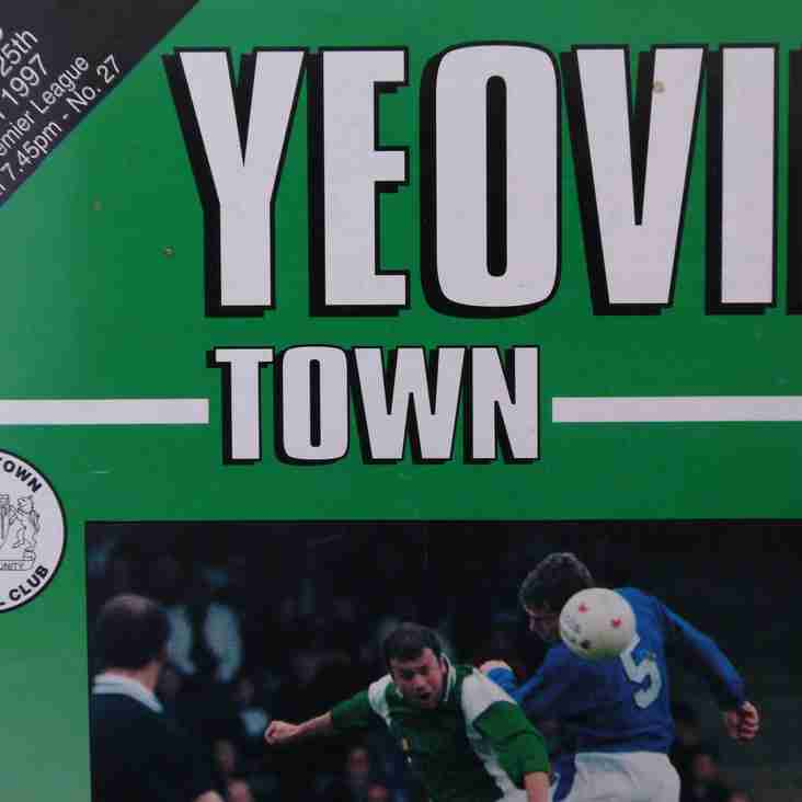 Football Programmes of Yesteryear No. 10: Yeovil Town v Enfield, 25 March 1997