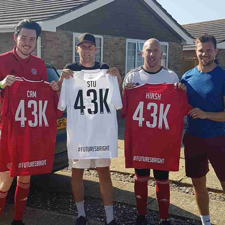 Worthing smash their 43k fundraising target- and run 43km to celebrate