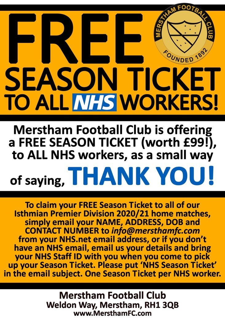 Merstham NHS offer 2020-21