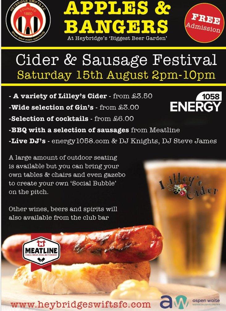 Heybridge Swifts Festival Flyer