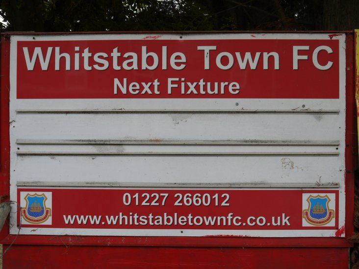 The fixture board is blank because...well, there isn't a home match for a month!