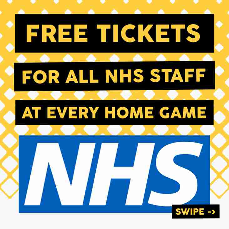 Wands announce NHS tickets pledge
