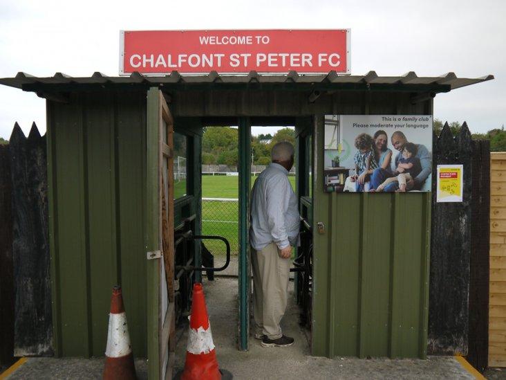 Chairman Denis starts a socially-distanced queue