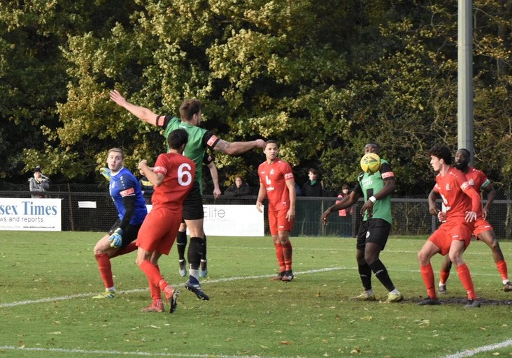 Burgess Hill Town equaliser, image from Chris Neal
