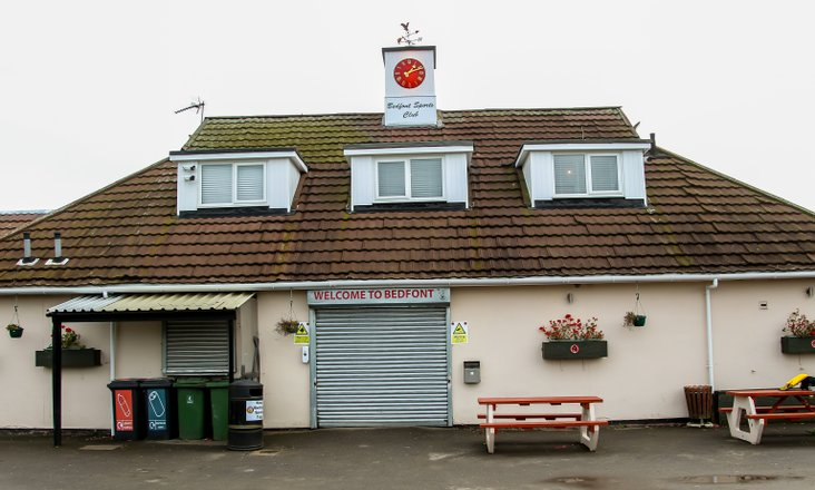 Bedfont Sports Pavilion with new clock tower