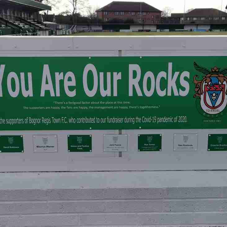 Rocks unveil their 'Wall of Thanks' and confirm two returning players