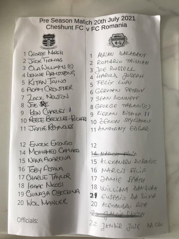 Cheshunt v FC Romania 200721