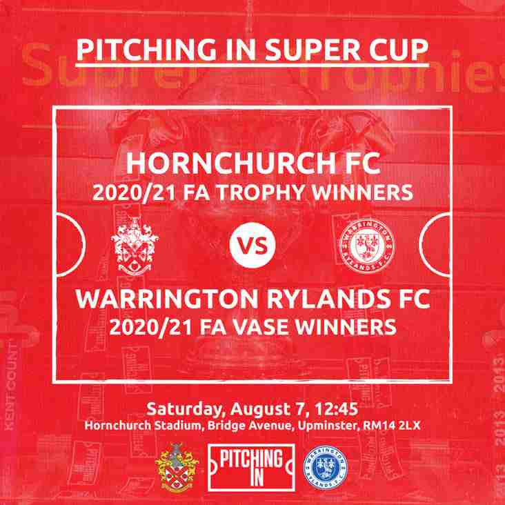 The Pitching In Non League Super Cup- two days away!