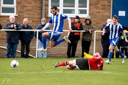A good crowd at the Paycare Ground watched Darlaston extend their unbeaten run