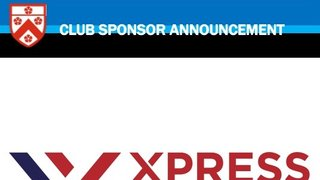 Club Sponsor Announcement